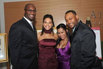 Producer Roger Bobb, Demetria Mckinney, Lisa Wu-Hartwell & Ed Hartwell (At The 25th Anniversary UNCF Mayor's Masked Ball)