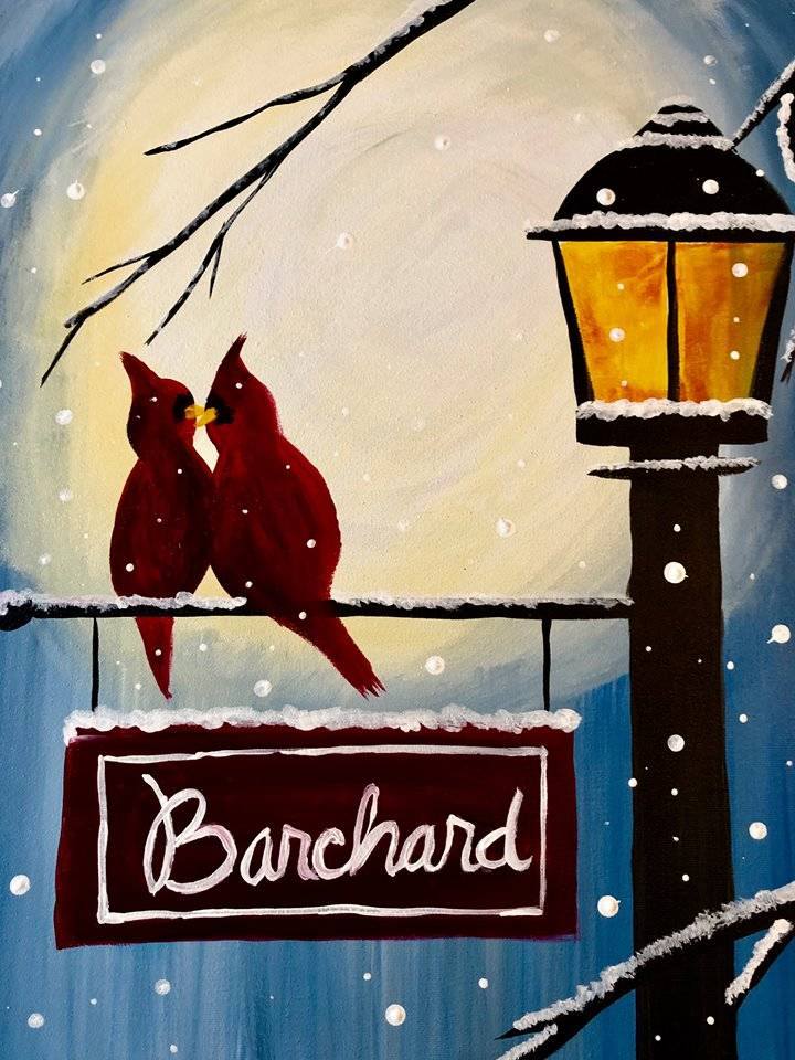 Home for the Holidays (lamppost&cardinals)