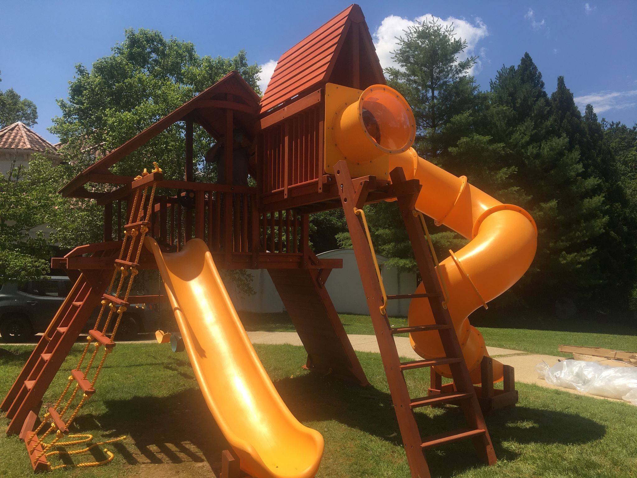 outback swing set assembly in Arlington Virginia