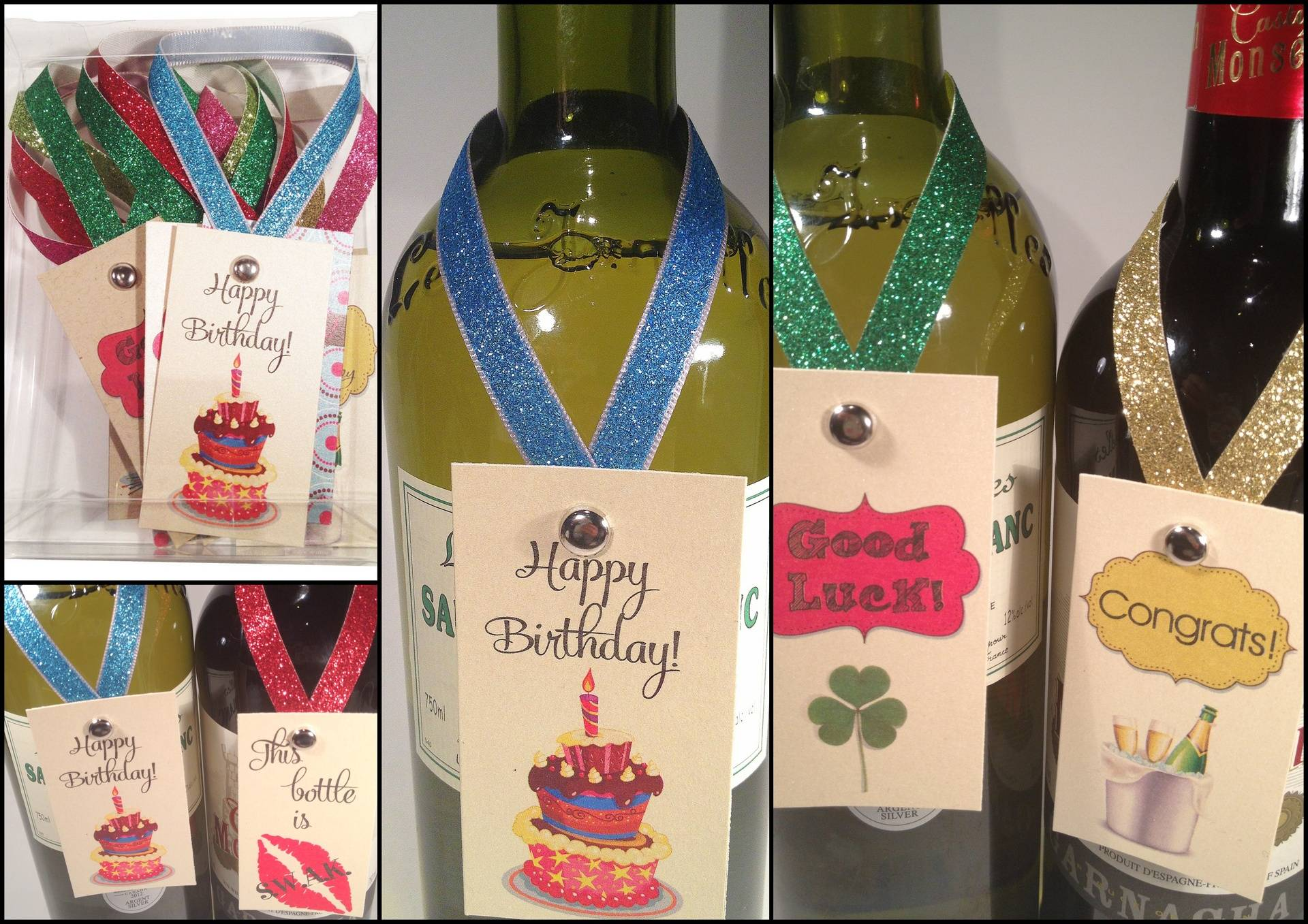 Wine Bottle Neck Tags - Party 2013