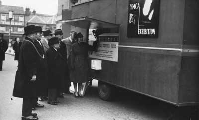 YMCA Tea Van with the Mayorial party in Coventry