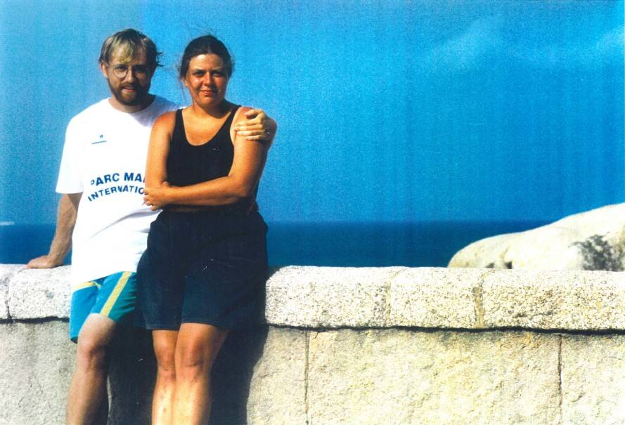 JB Leca and Noëlle Gunst working in a marine conservation project, Corsica, France (July 1999)
