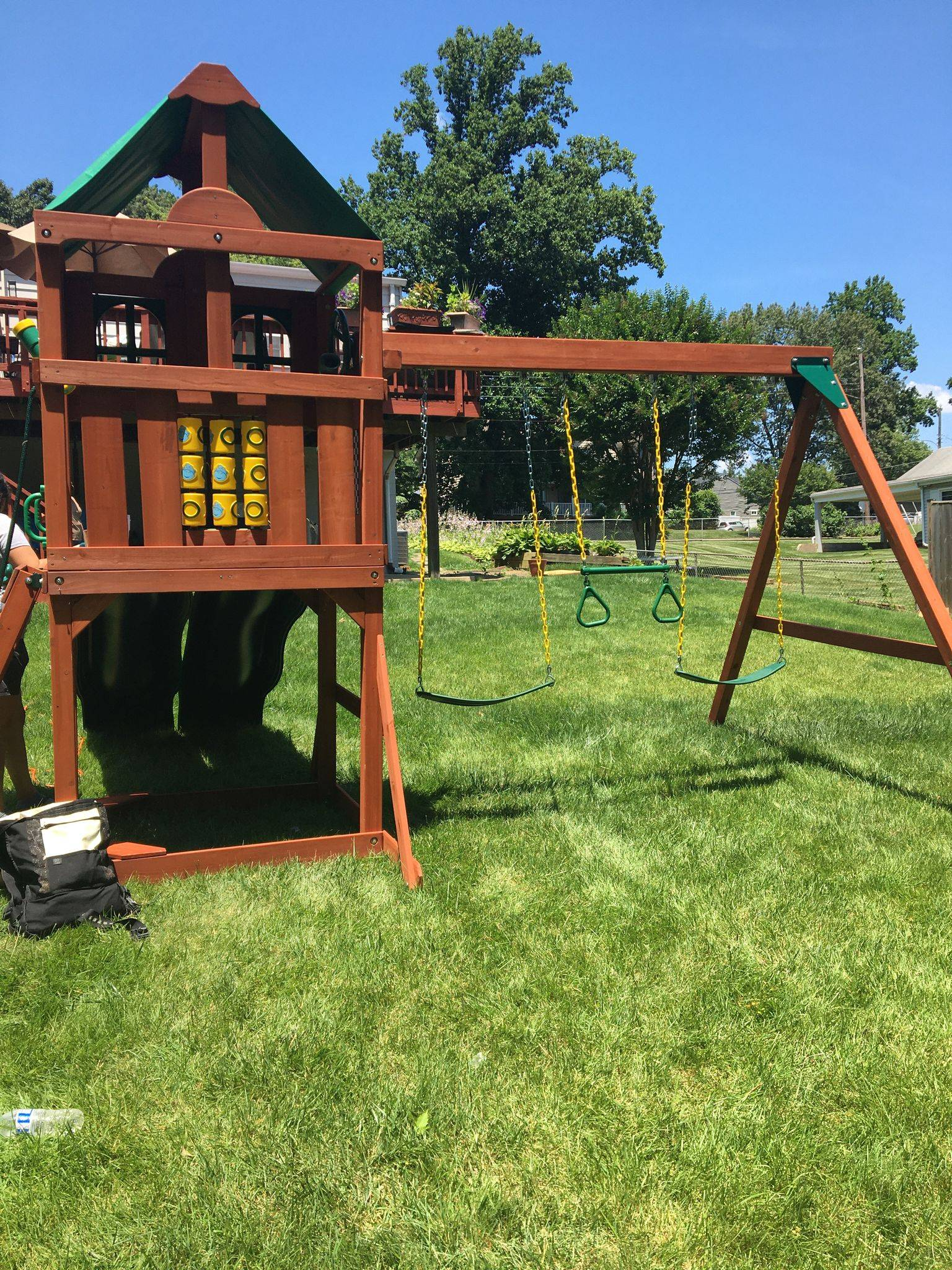 gorilla playset playmaker swing set assembly in bowie Maryland