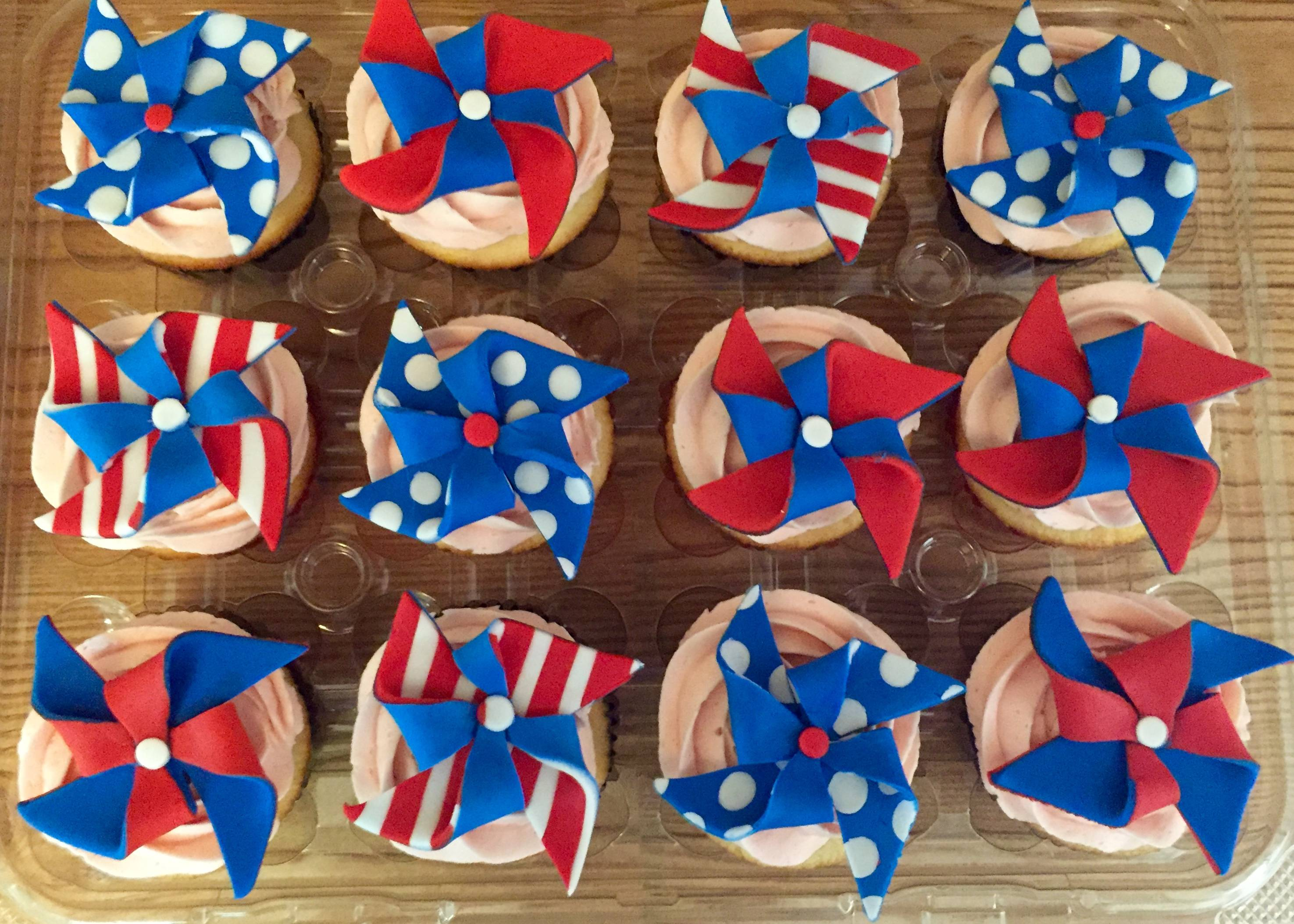 4th of July themed cupcakes