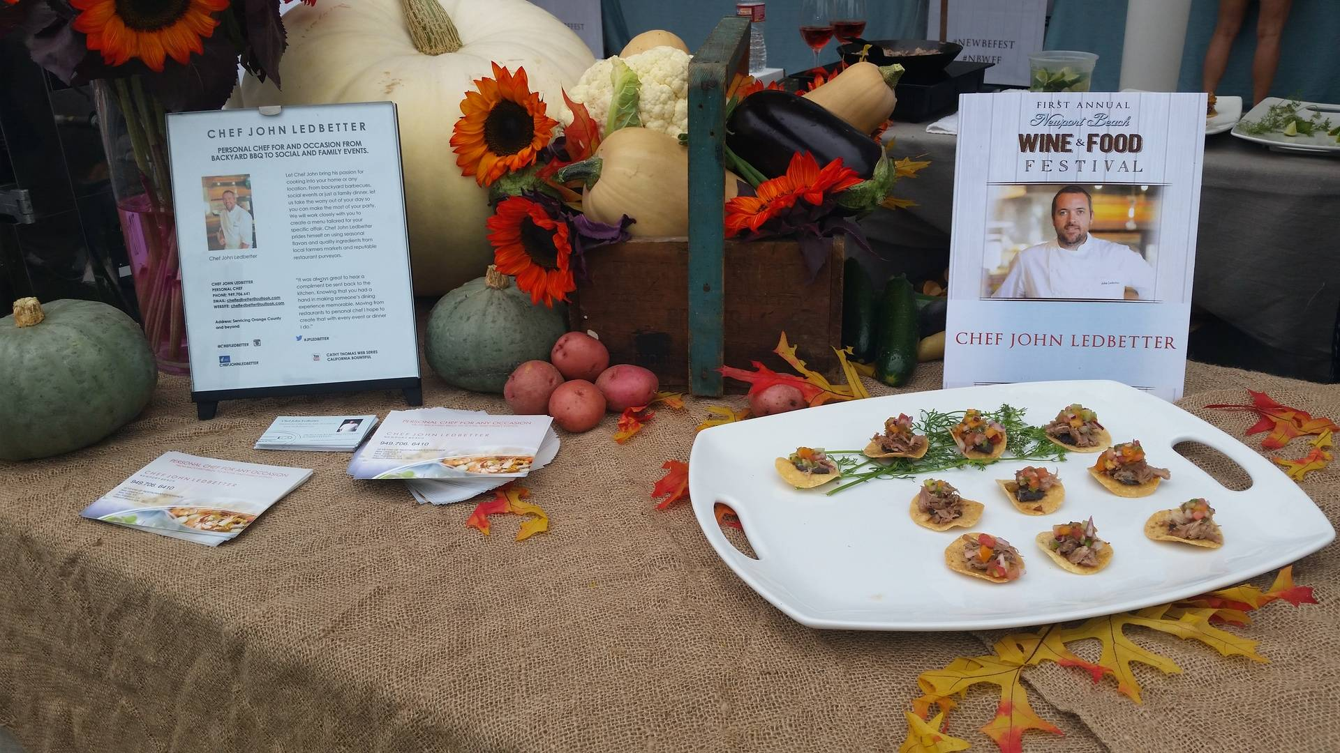 Hor d' Oeuvres display at the event on Saturday