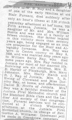 Ray, Alice Norris 1931