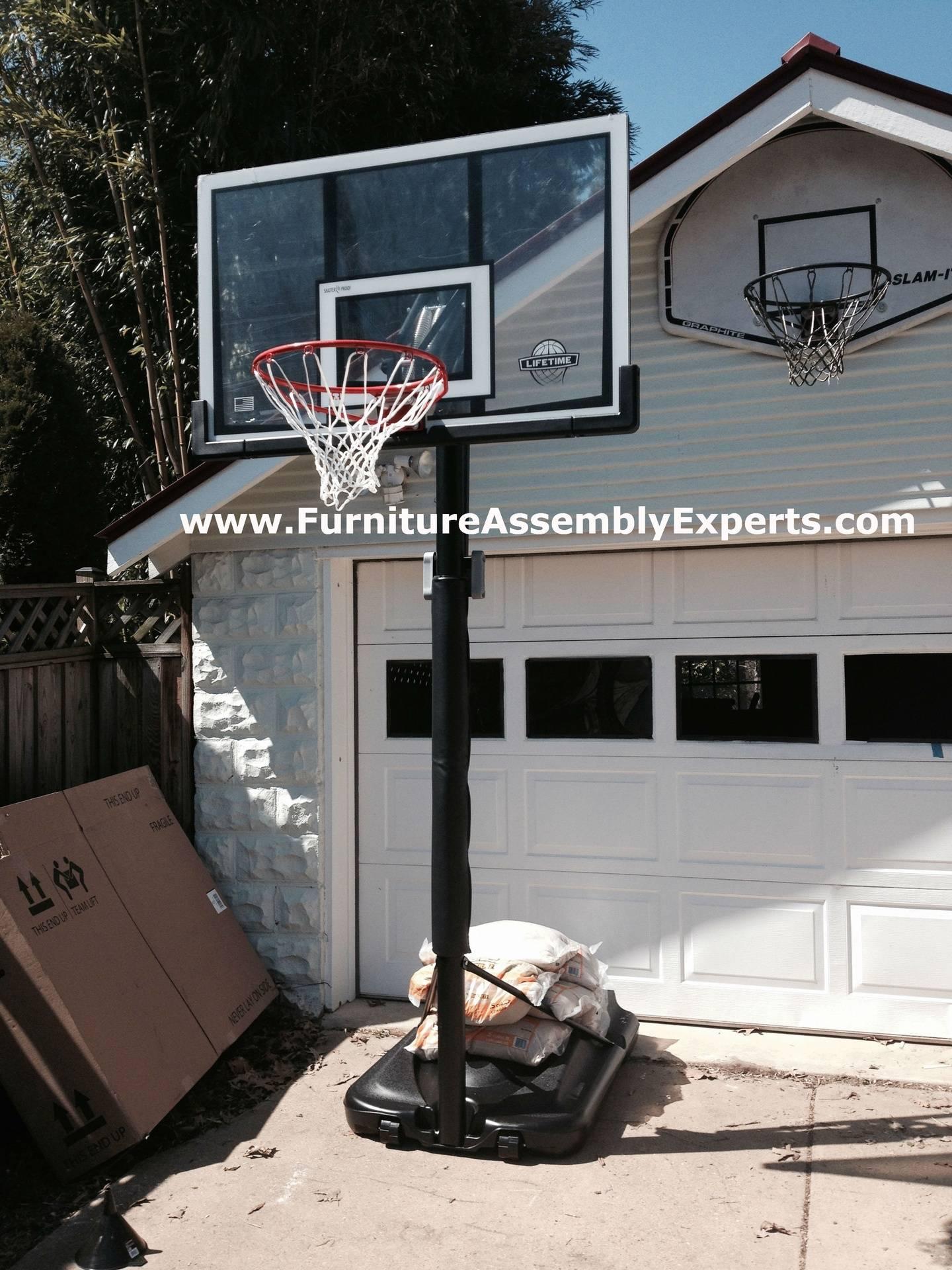lifetime portable basketball hoop assembly service in halethorpe MD