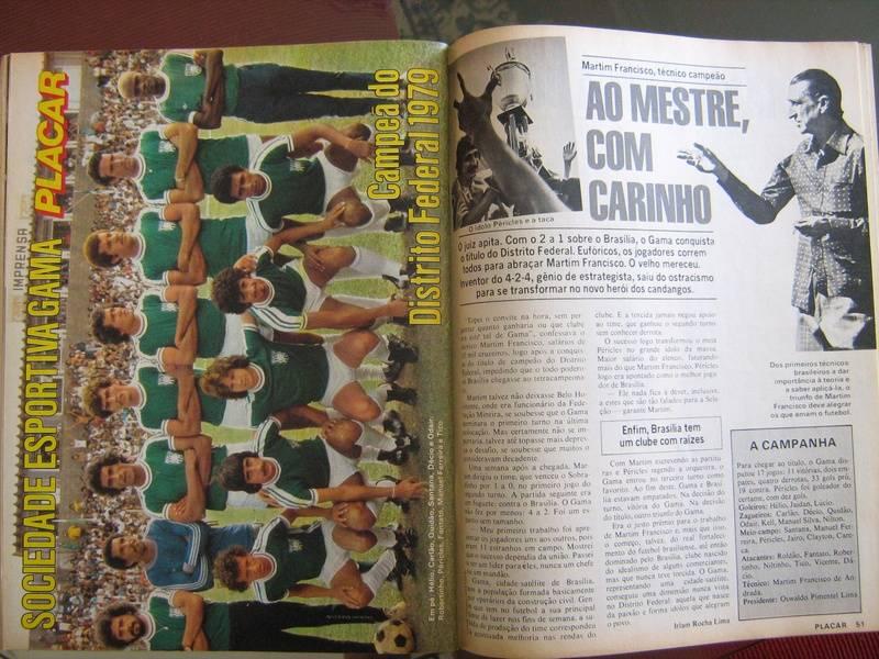 Pôster e matéria da revista placar nº 488 - Gama campeão 1979