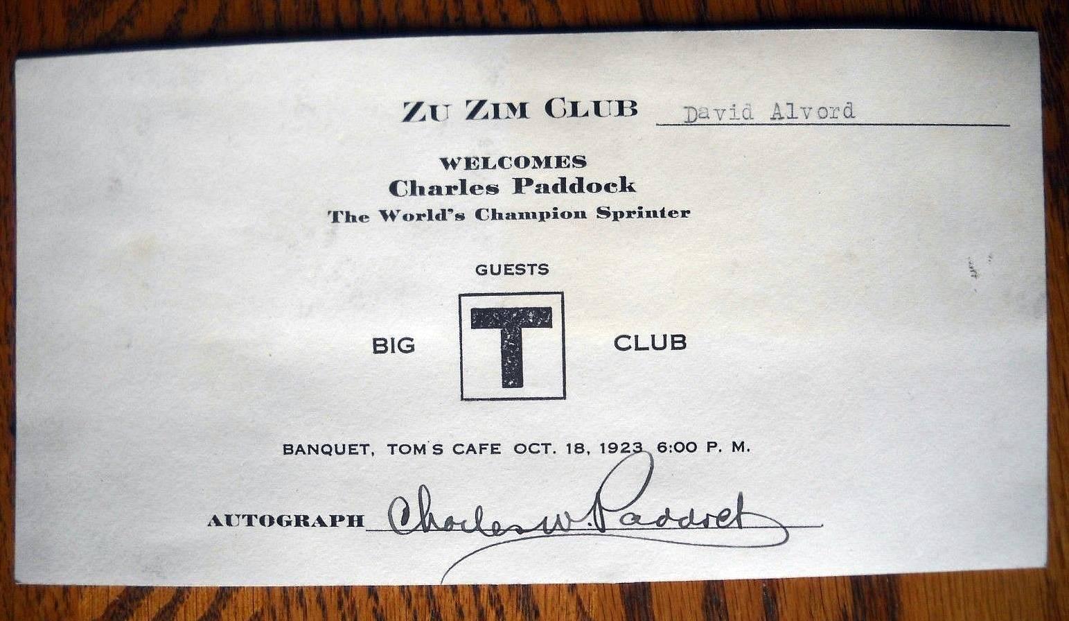 1923 Autograph