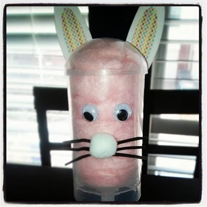 Easter cotton candy push pops