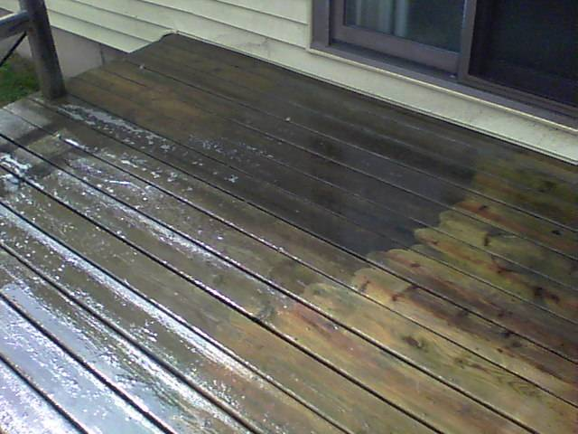 Deck cleaning  Cleaned by Pete