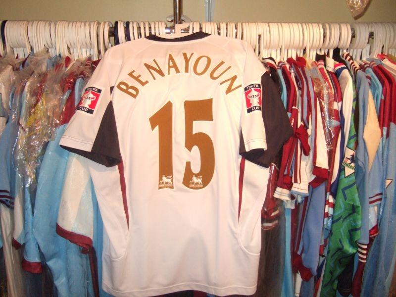 Yossi Benayouns Worn 2006 FA Cup Final Shirt worn May 13th 2006 vs Liverpool at the Millenium stadium, Cardiff
