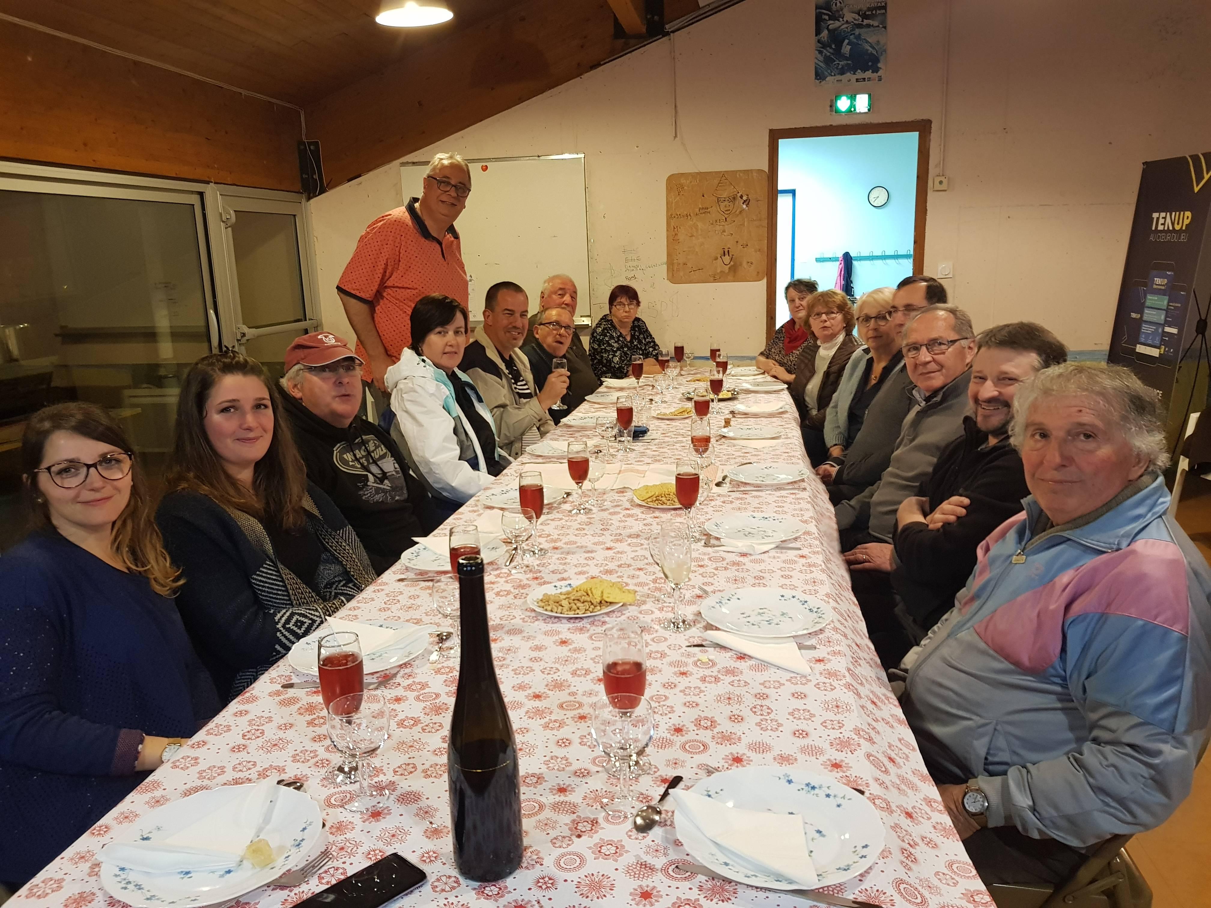 Dinner with friends of Liginiac
