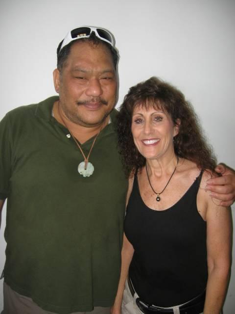 Violet & Kumu Hula Kawelo Kong Kee