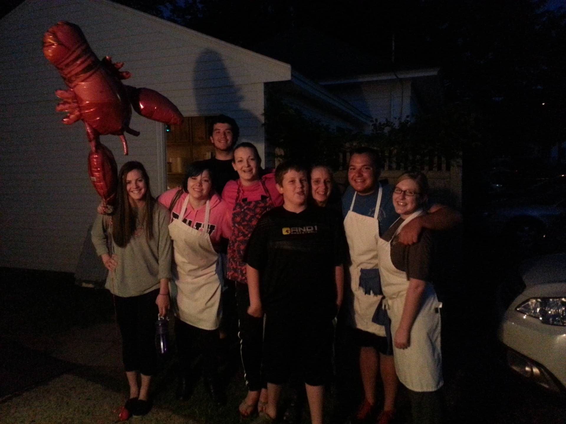 Captains Family with Lobster