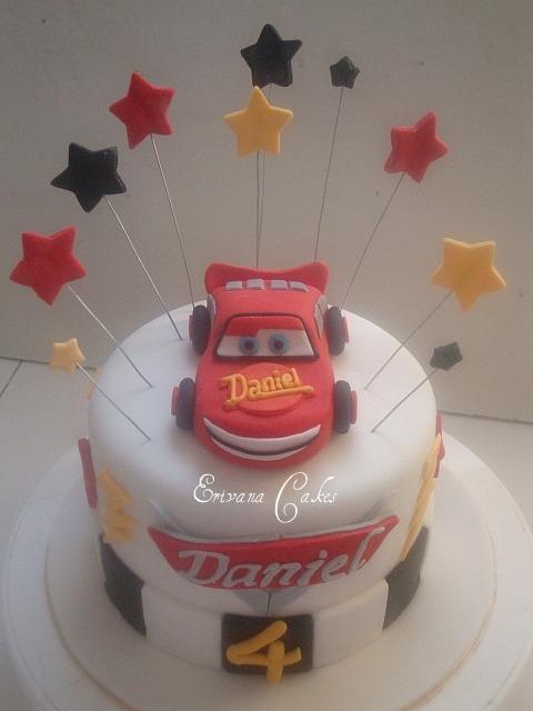 Lightning Mcqueen Cake 4 (B034)
