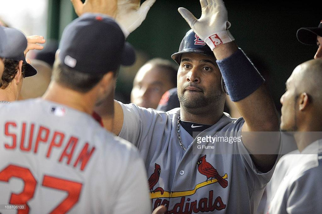 ALBERT PUJOLS 2010 SIGNED GAME USED BATTING GLOVES w MLB HOLOGRAM