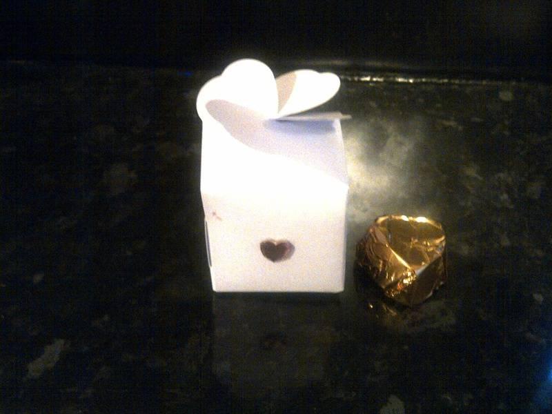 Wedding Favour with handmade chocolate