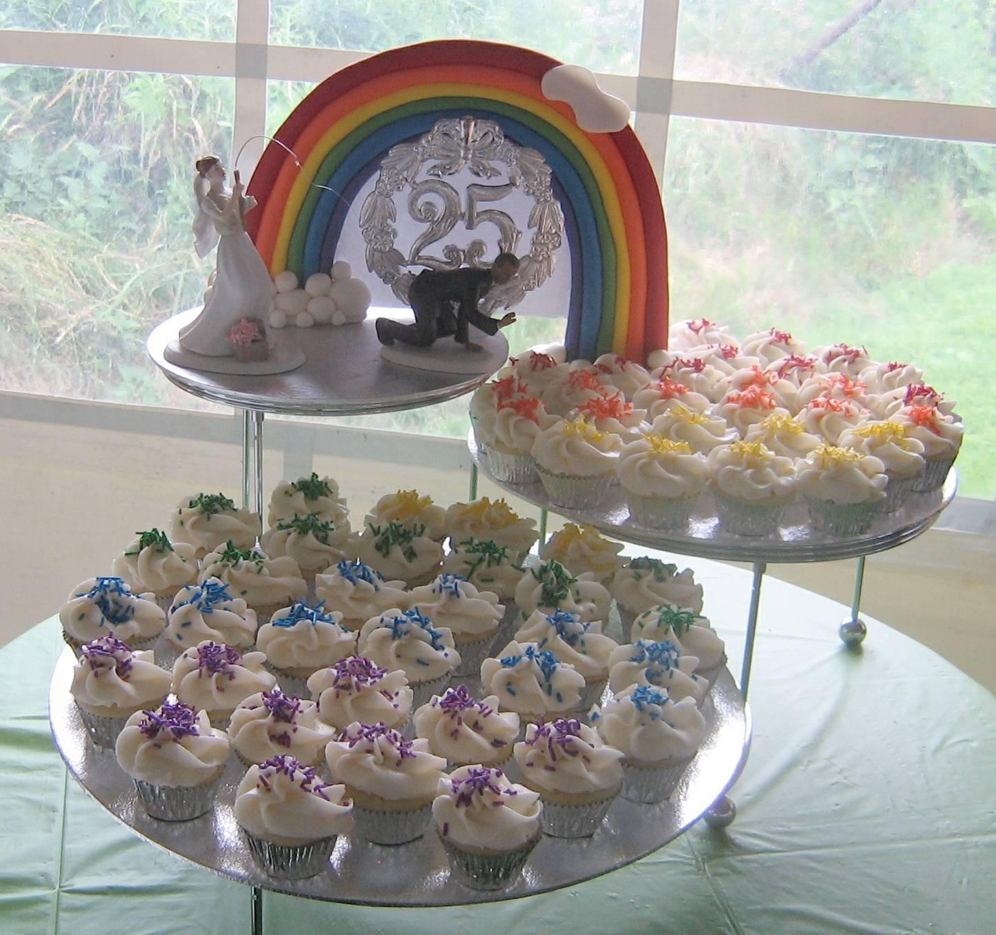 Rainbow Theme Cupcakes