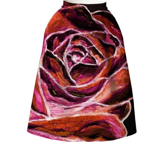Magic rose skirt