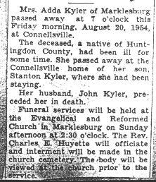 Kyler, Adda 1954