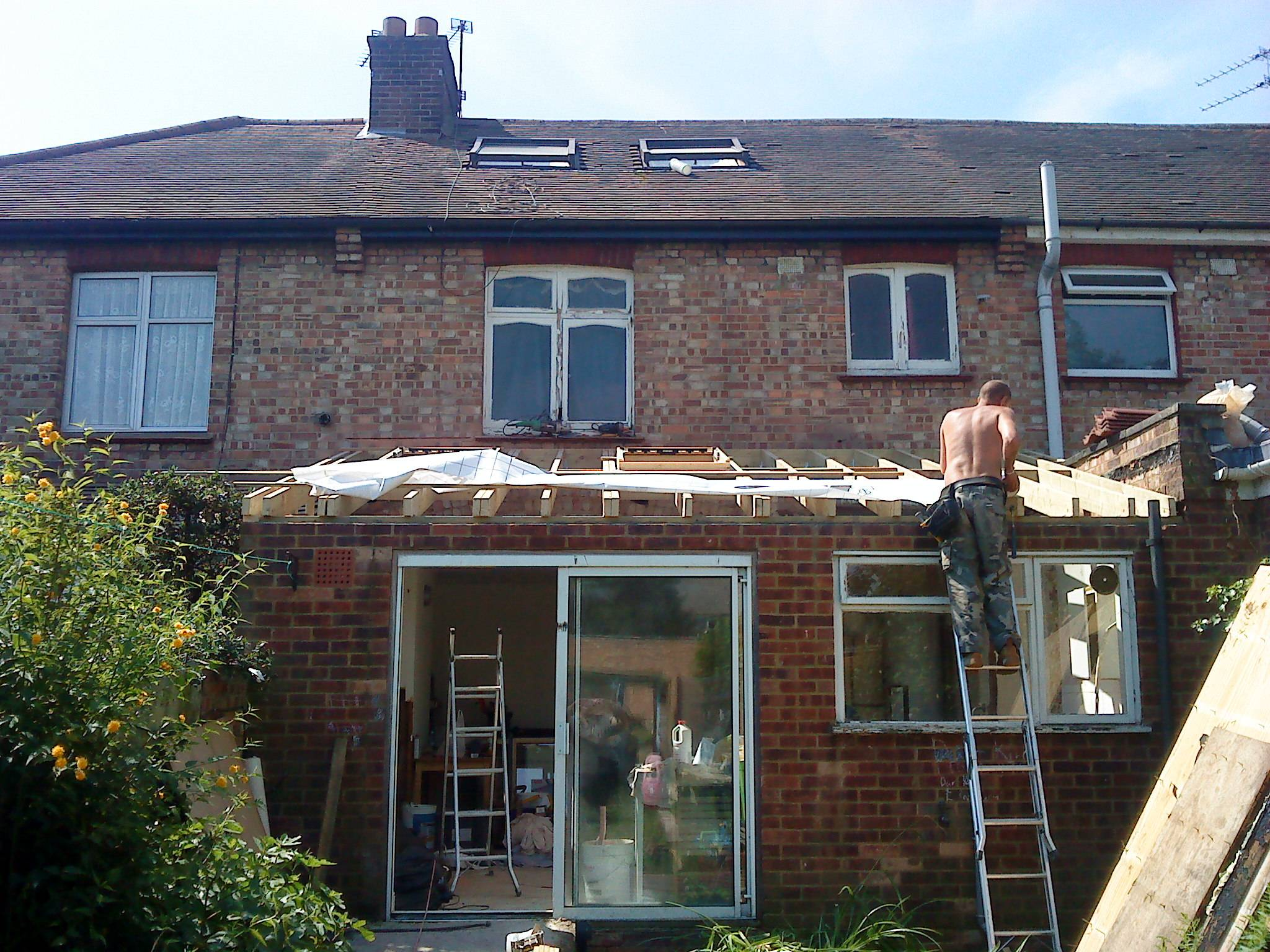 Flat roof conversion