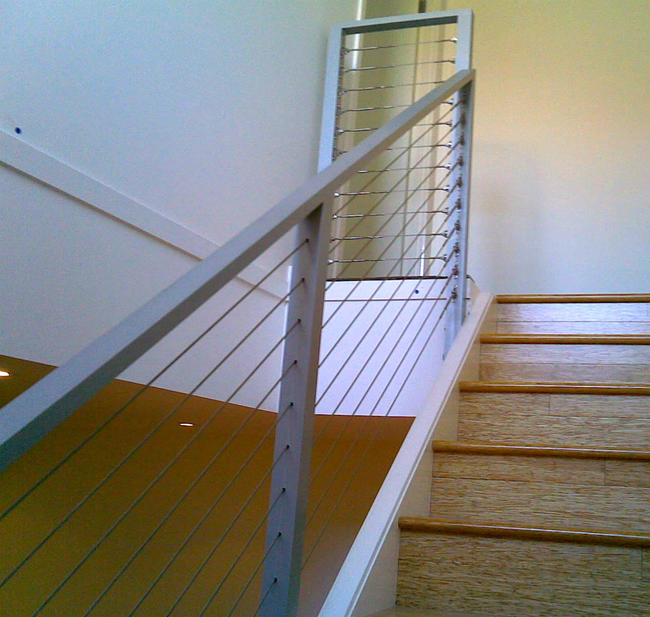 Powdercoated Stair Rails with Stainless Steel Wire