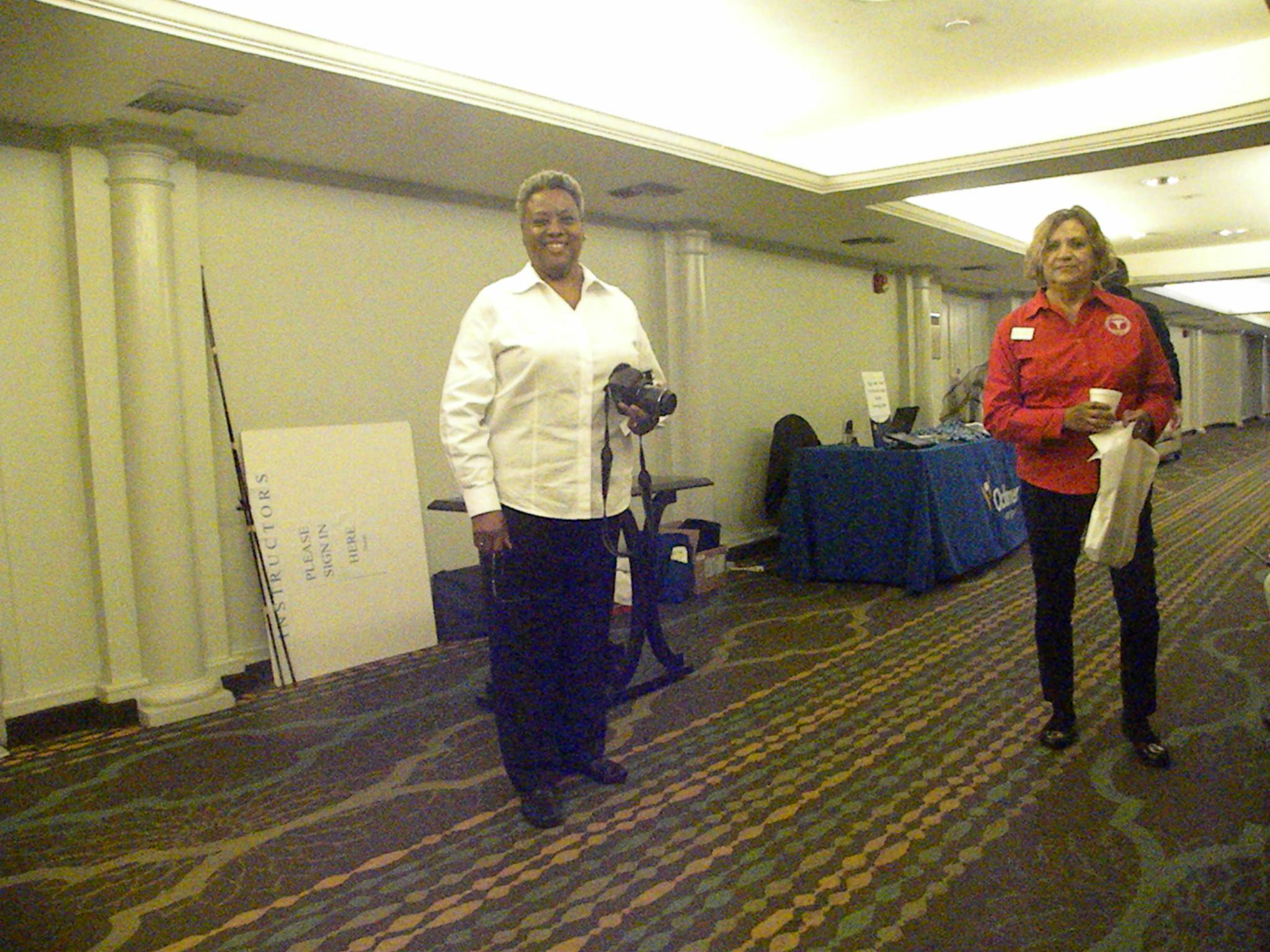 Speaker Dr. Rebecca Harris-Smith with LFLPN VP Margo Redden
