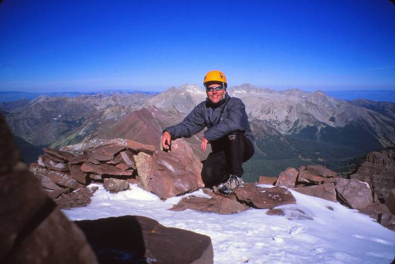 Rob on summit of North Maroon Bell