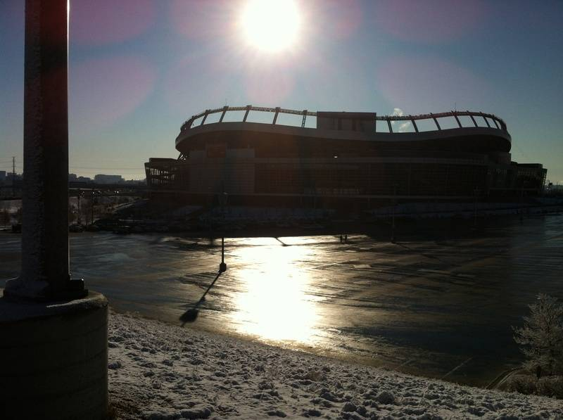 Cold Morning in Denver for NFL Films