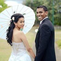 Beautiful couple under a gorgeous parasol