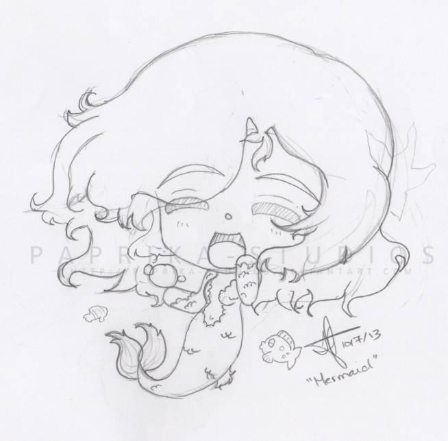 Chibi Mermaid WIP