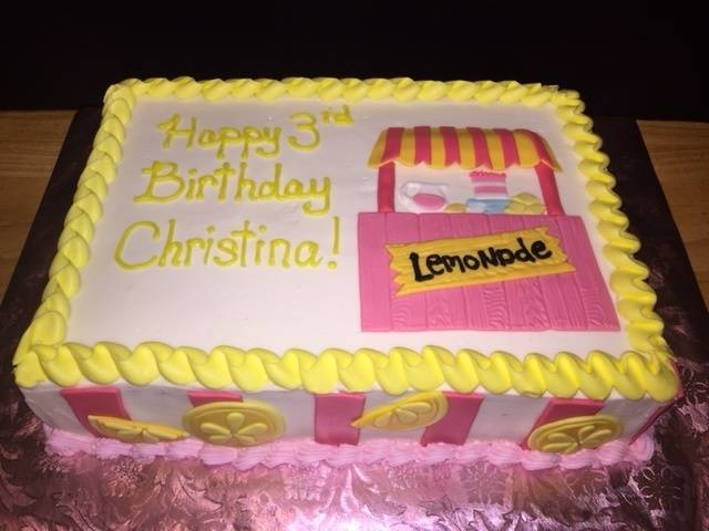 Pink Lemonade Stand cake!