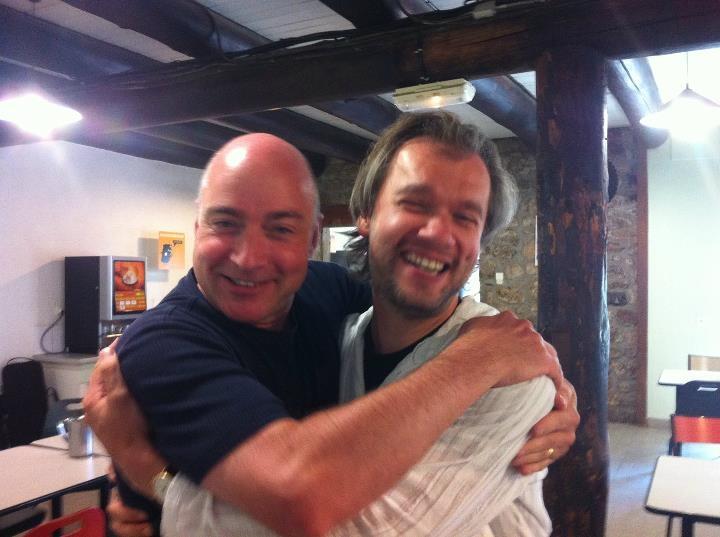With Sascha Trostiansky at LMFL in Le Chambon-sur-Lignon, France