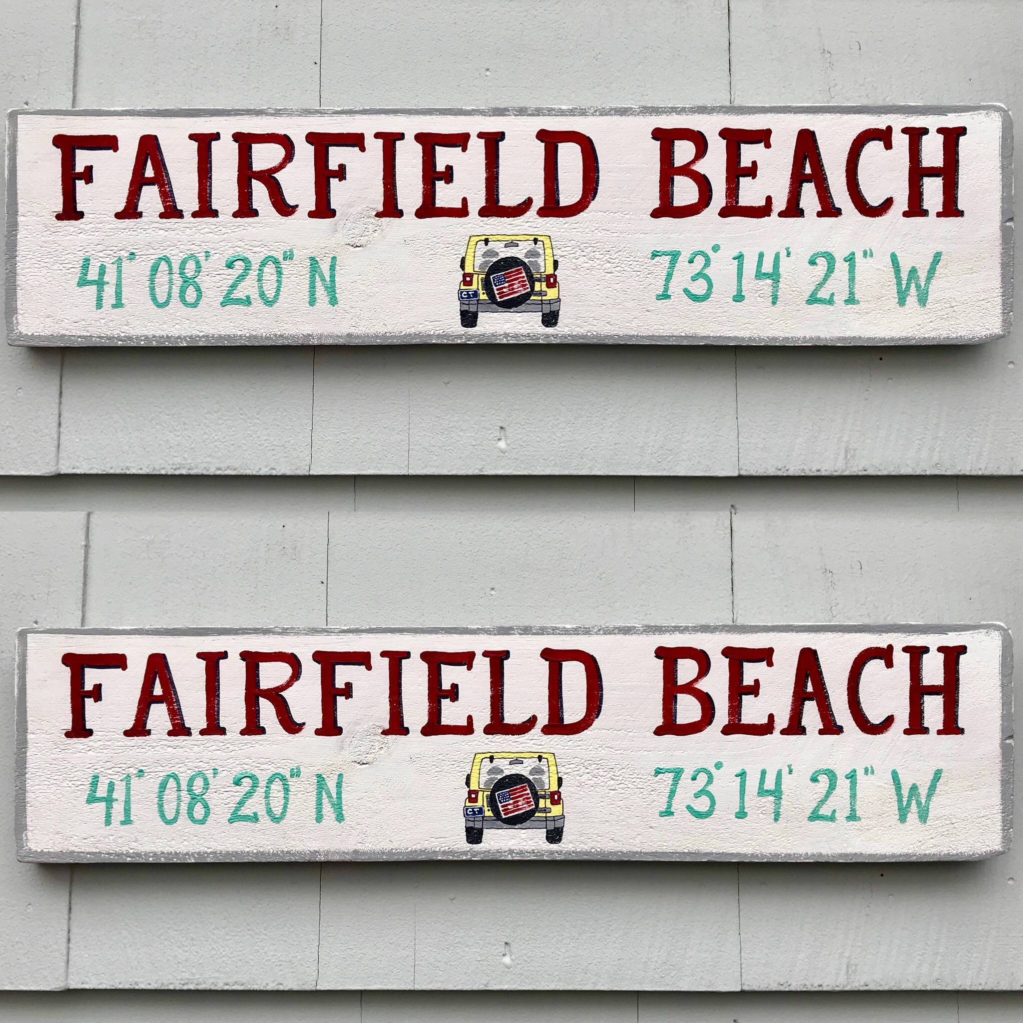 Beach Sign w/ JEEP