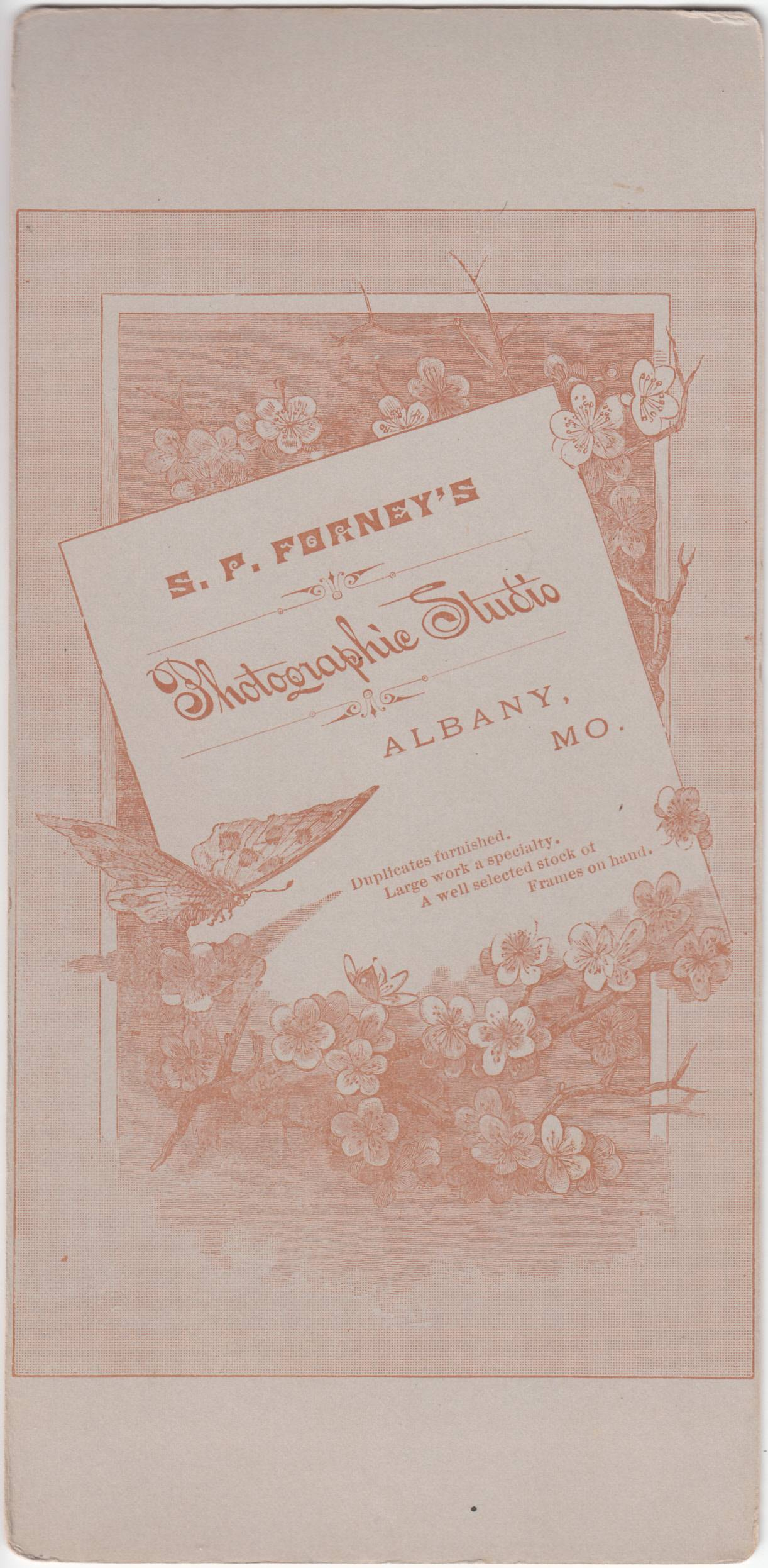 Samuel P. Forney, photographer of Albany, Missouri