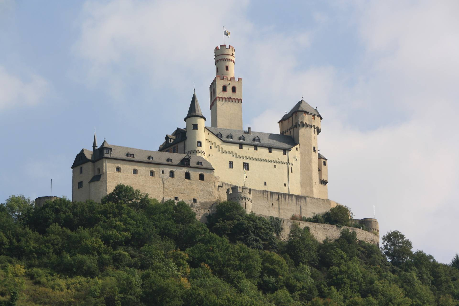 Marksburg Castle from ship