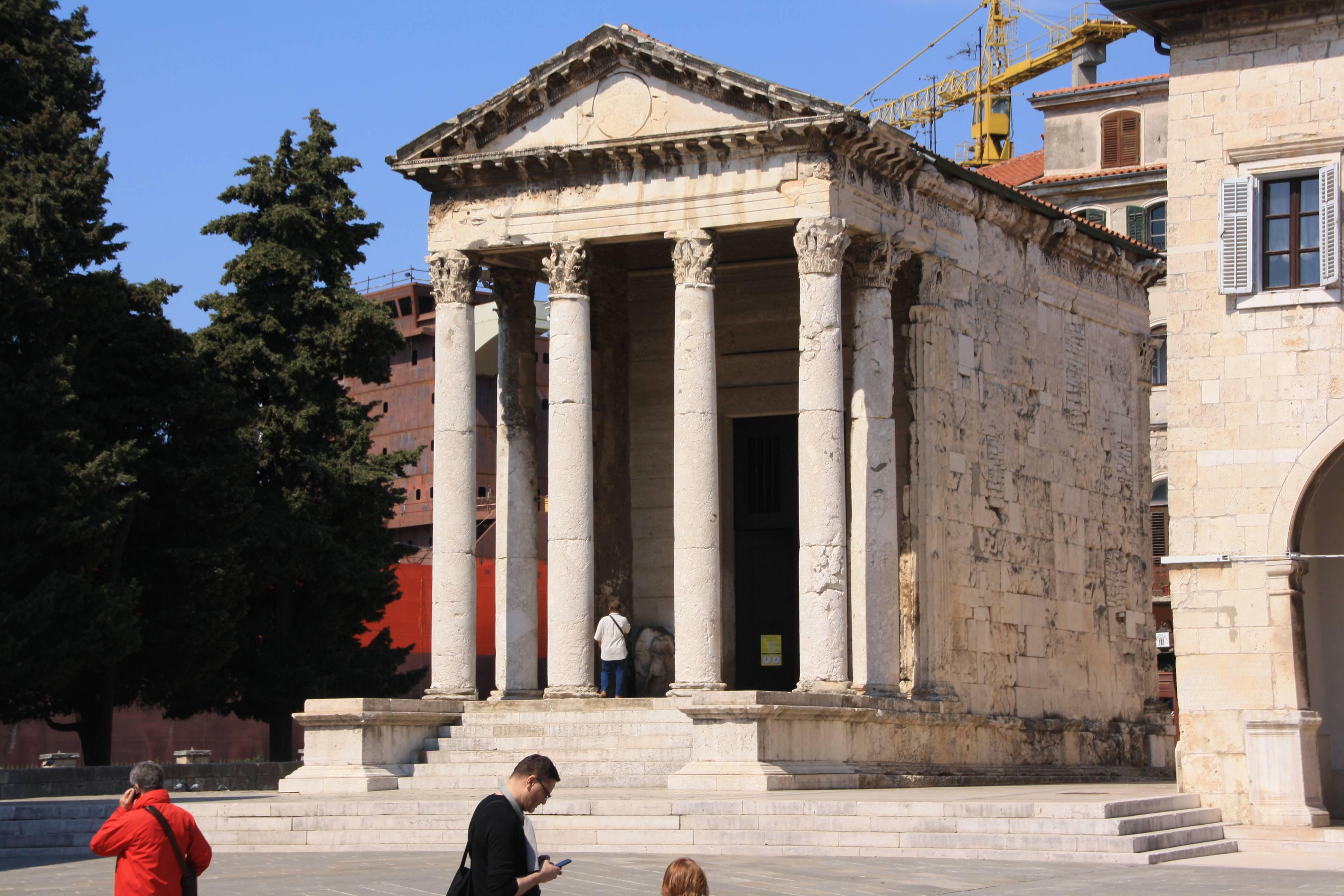 Temple of Jupiter, Pula, Croatia