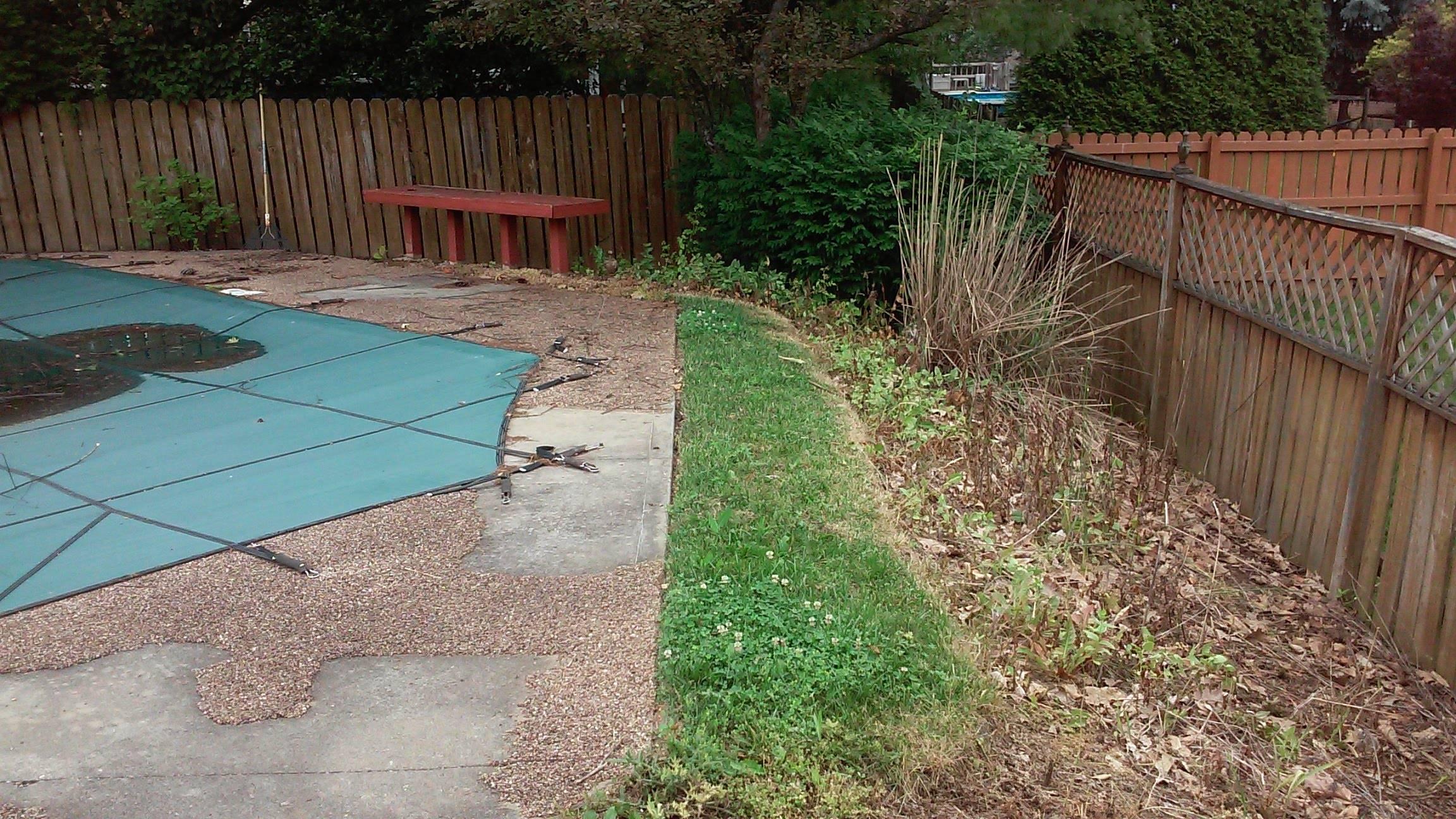 Over run backyard