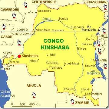 Carte de la RD. Congo