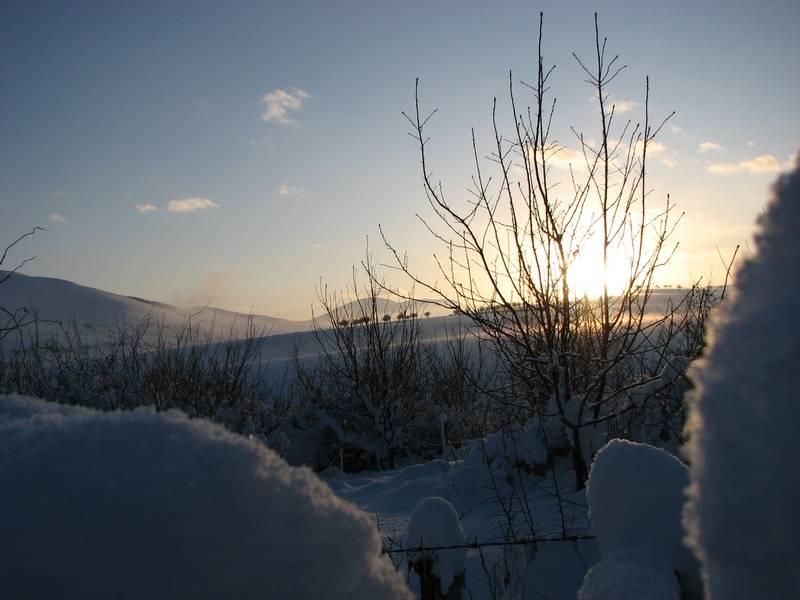 Jan 10, sunset snow 3