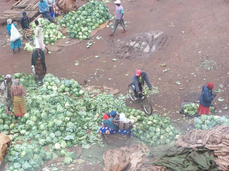 Market area in Kitale.