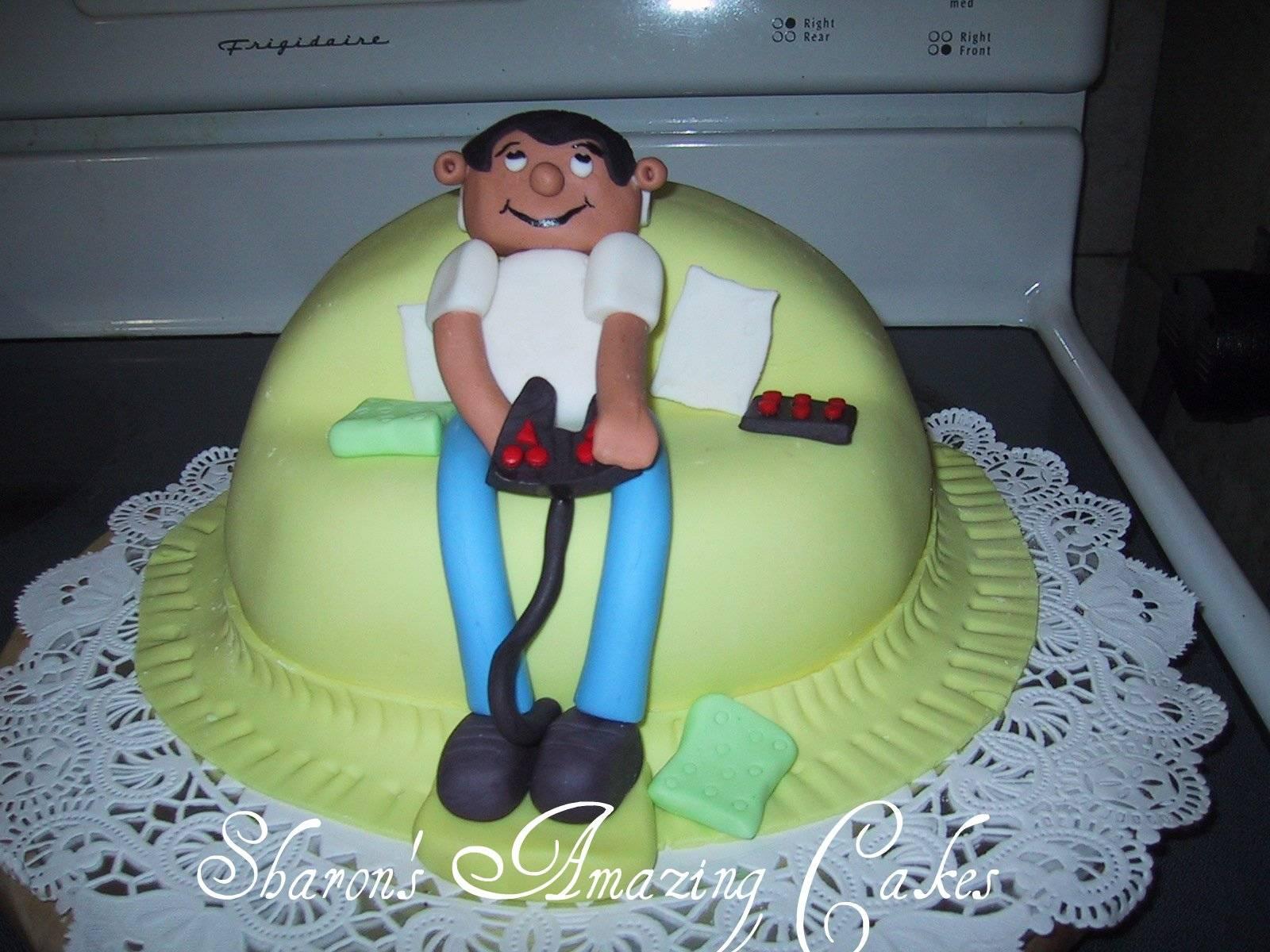 CAKE 05G -Playstation Junkie Cake