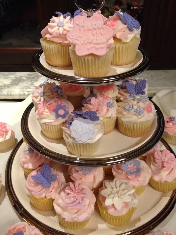 Flower cupcakes detail