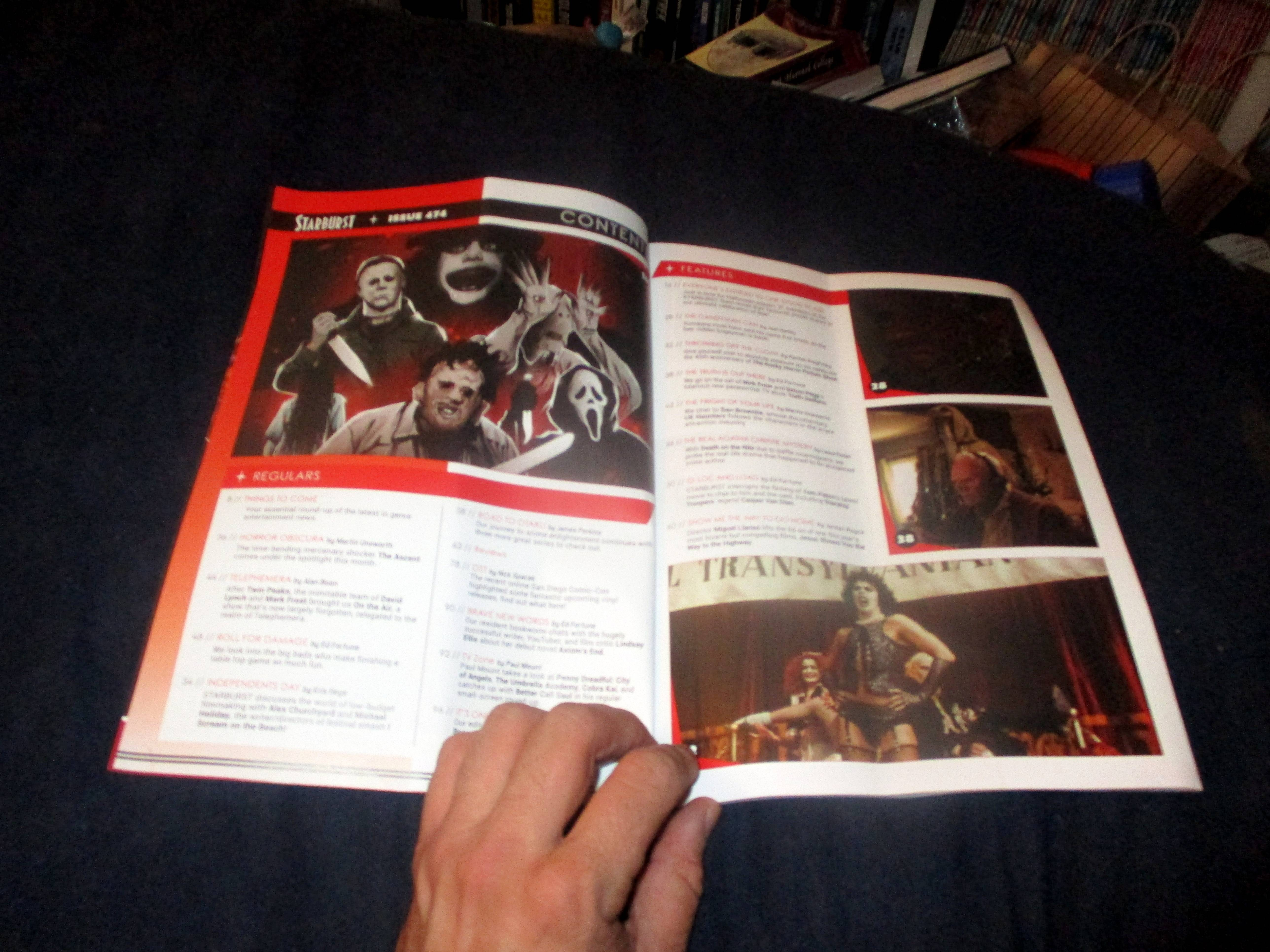 Page Spread with Table of Contents in Starburst Magazine #474: Everyone's Entitled to One Good Scare Collectors' Edition at The Wombatorium 2.0: A Capital Idea