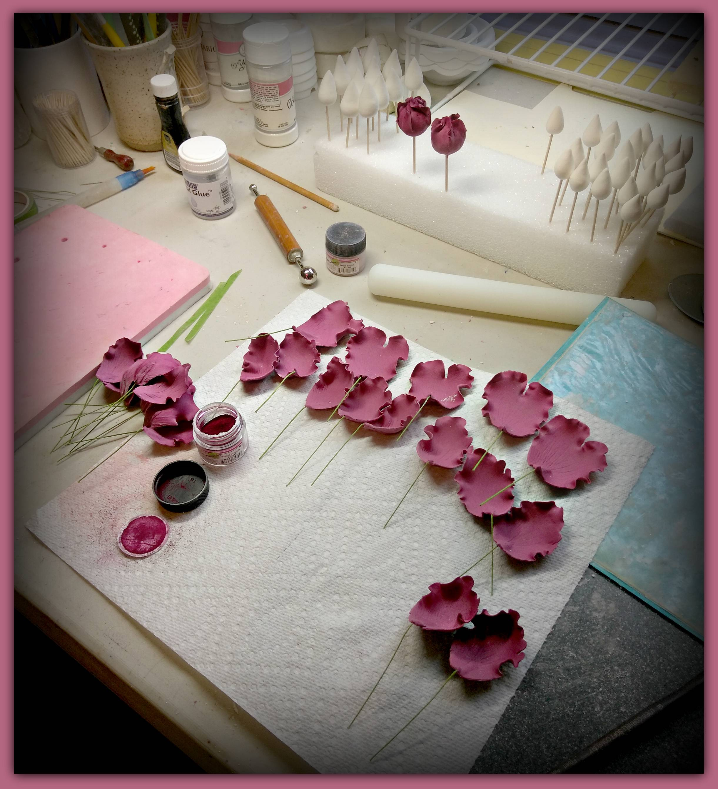 Editable flowers in the process....