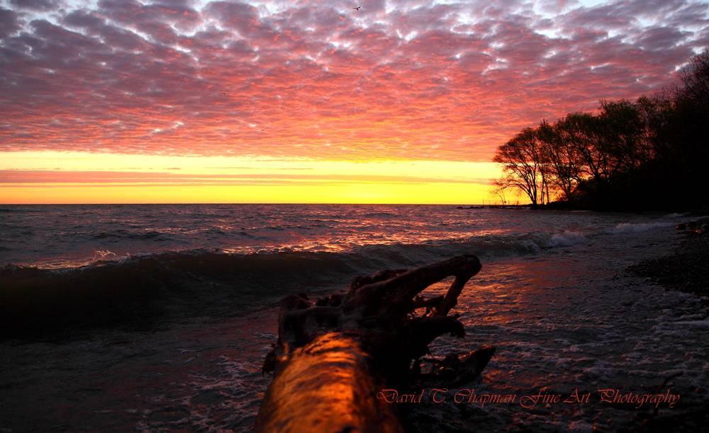 Sunrise at Grimsby Beach