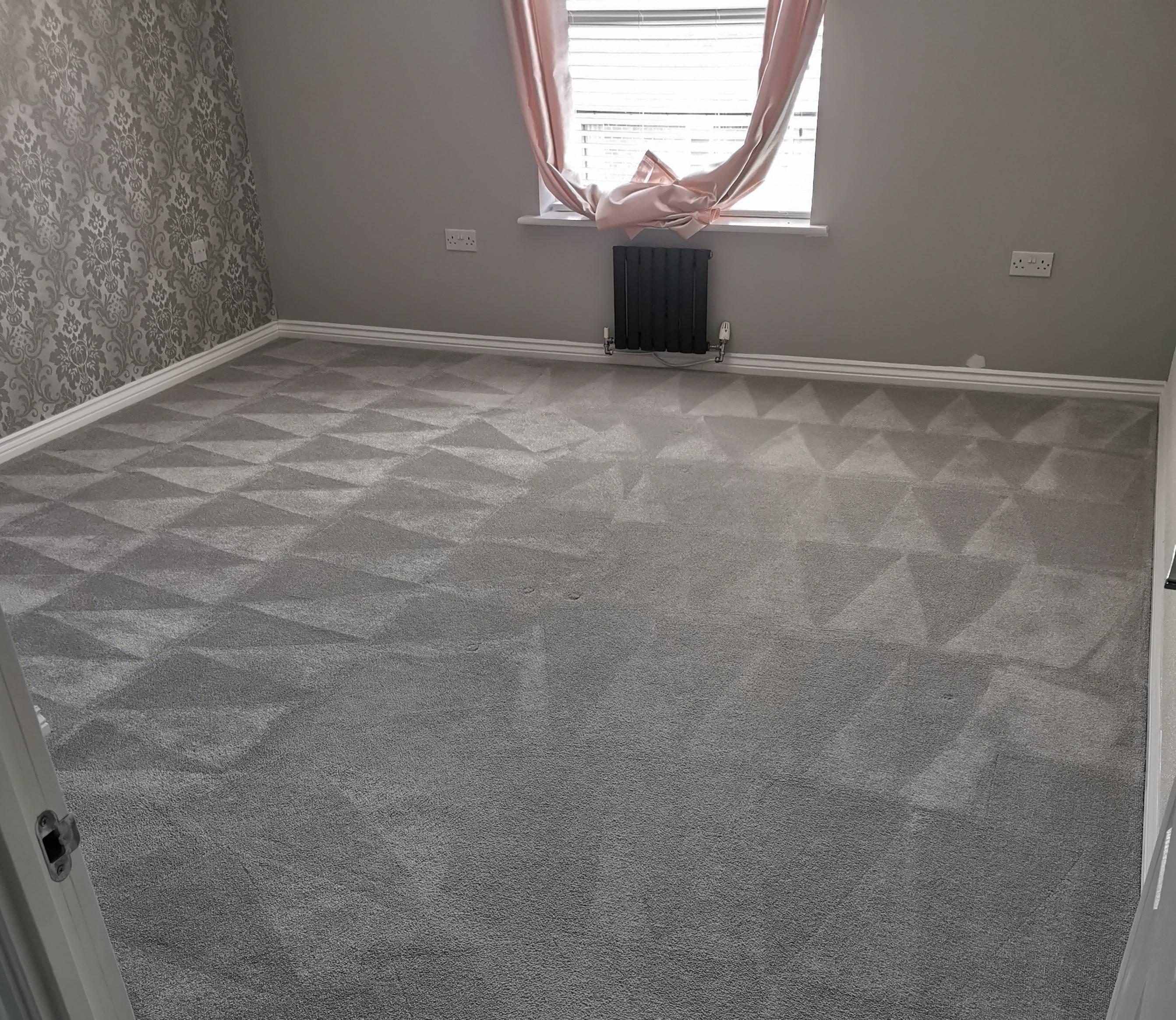 Bedroom carpet clean