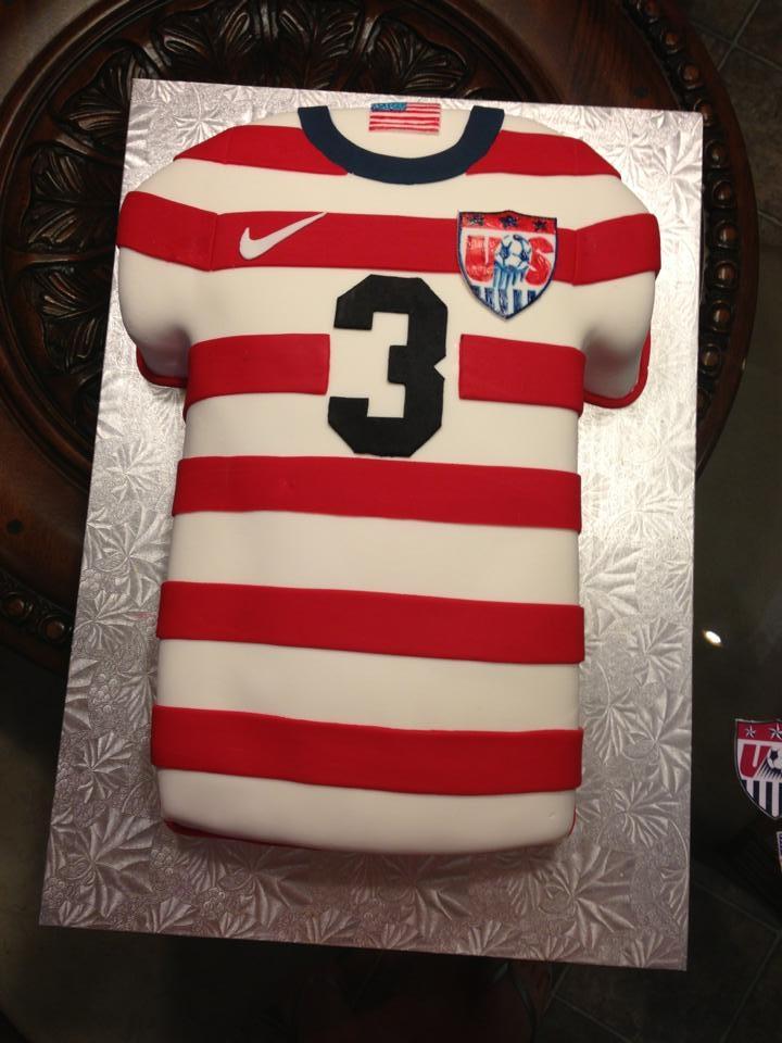 USA Soccer jersey Grooms Cake
