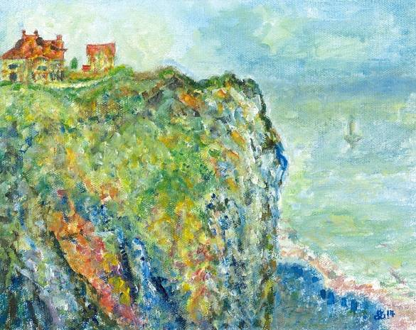 Interpretation of Cliff at Dieppe 1882 - France